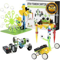 2Pepers Electric Motor Robotic Science Kits for Kids 4-in-1